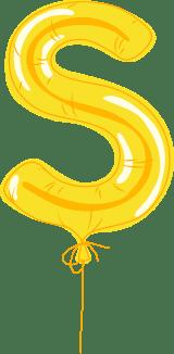 "Foil Balloon ""S"""
