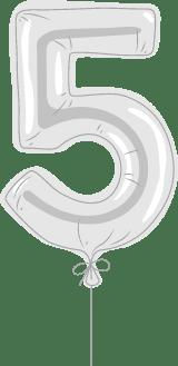 "Foil Balloon ""5"""