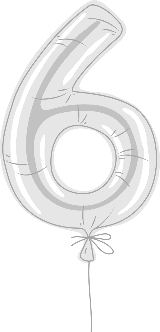 "Foil Balloon ""6"""