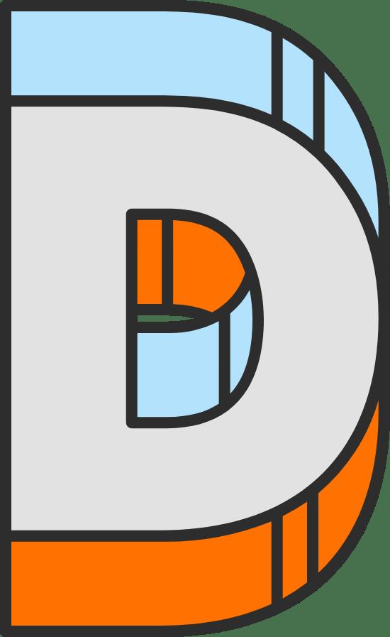 """Dimension Letter """"D"""""""