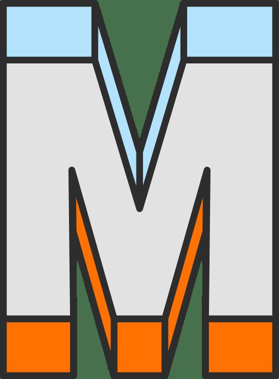 """Dimension Letter """"M"""""""