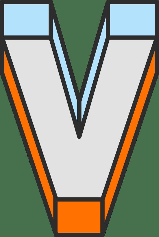 """Dimension Letter """"V"""""""