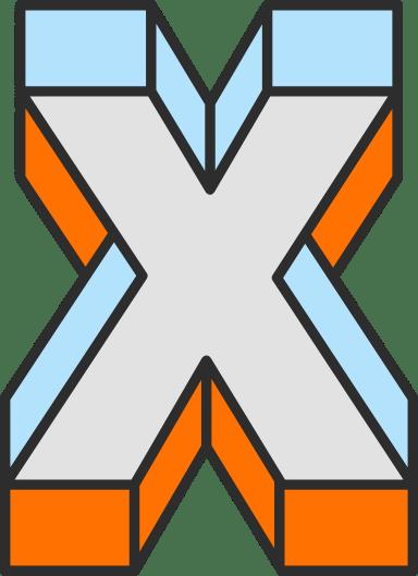 """Dimension Letter """"X"""""""