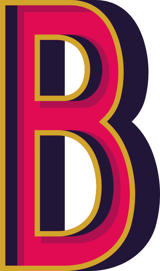 """Marquee Letter """"B"""""""