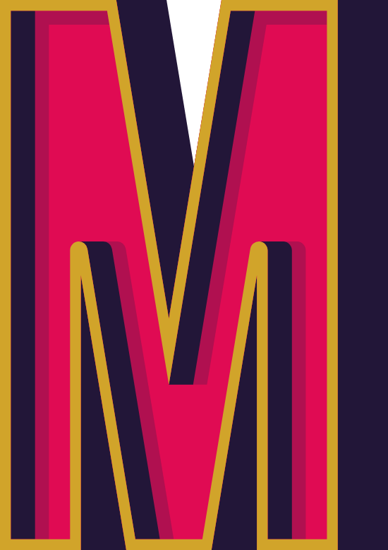 "Marquee Letter ""M"""