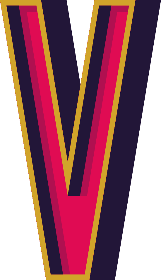"""Marquee Letter """"V"""""""