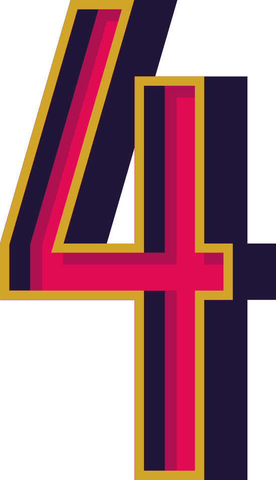"""Marquee Number """"4"""""""