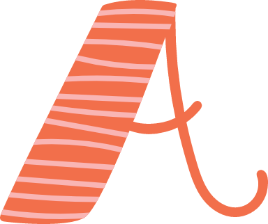 "Whimsical Letter ""A"""