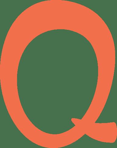 """Whimsical Letter """"Q"""""""