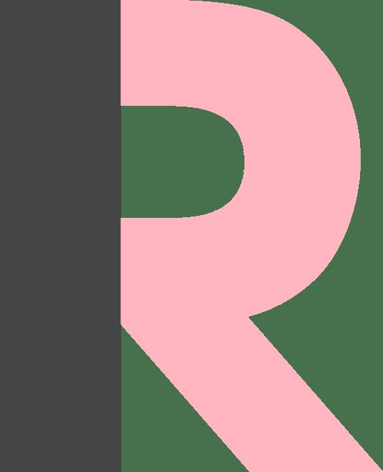 """Block Letter """"R"""""""