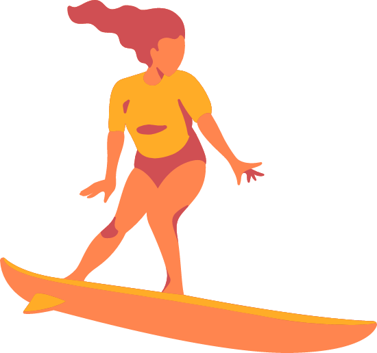Riding Surfer