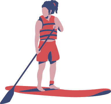Standing Paddleboarder
