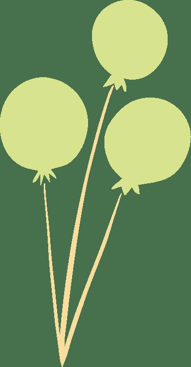 Three Green Balloons