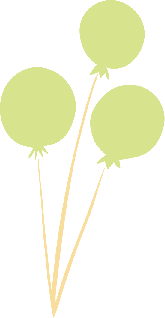 Three Green Balloons