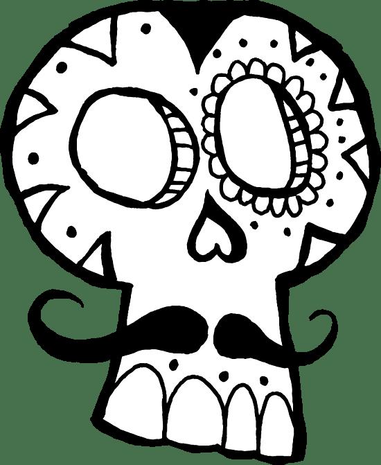 Mustachioed Skull