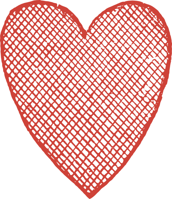 Crosshatched Heart