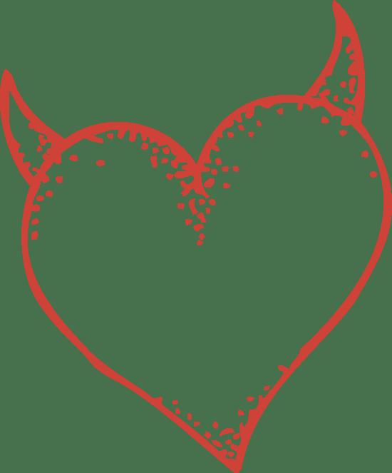 Sketchy Horned Heart