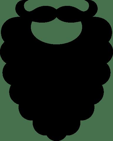 Dark Curly Beard