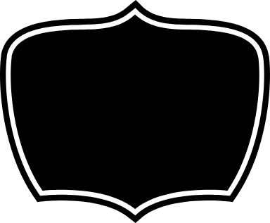 Dark Centered Badge