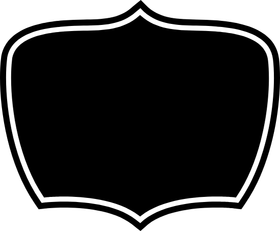 Dark Centered Badge