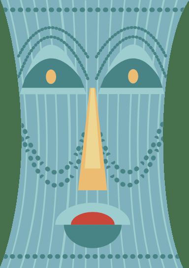 Stoic Tiki Mask
