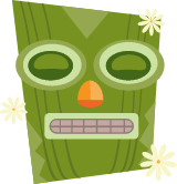 Dozing Tiki Mask