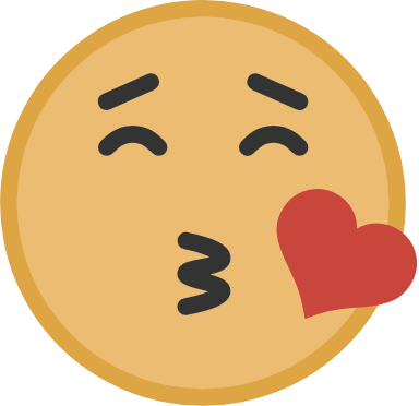 Yellow Kissing Face