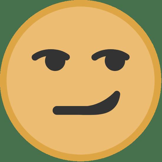 Yellow Smirking Face