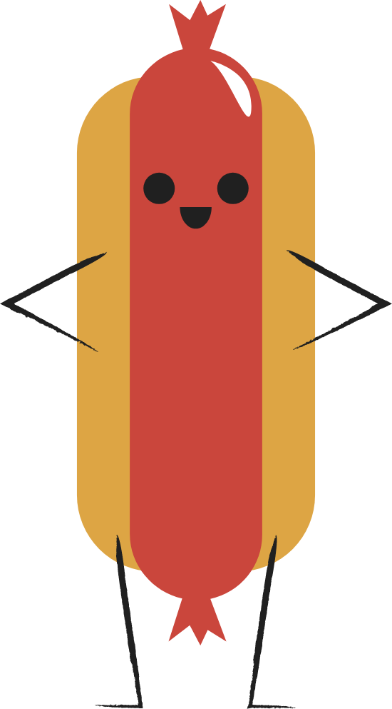 Standing Hot Dog
