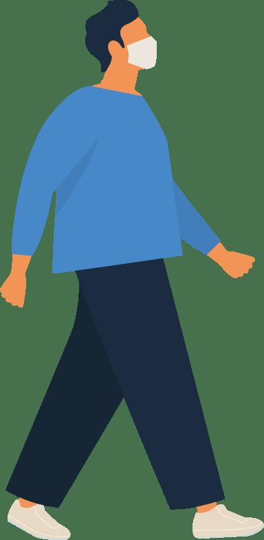 Masked Walking Man