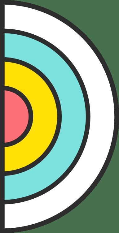 Concentric Half Circle