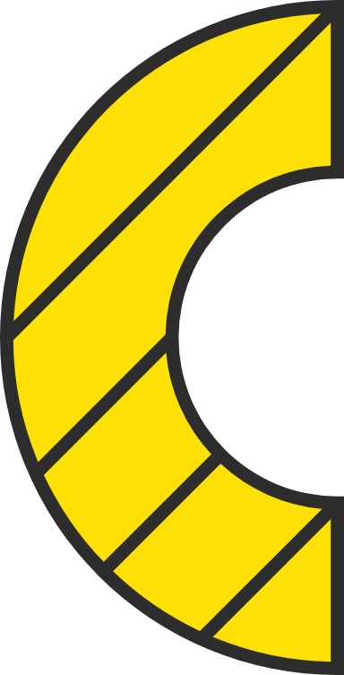 Striped Semicircle