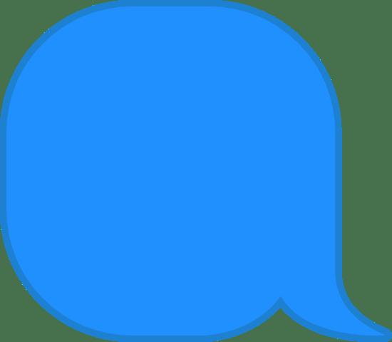 Round Stubby Speech Bubble