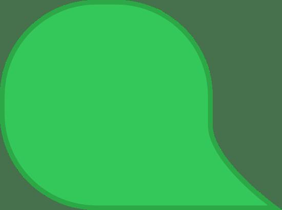 Round Angled Speech Bubble