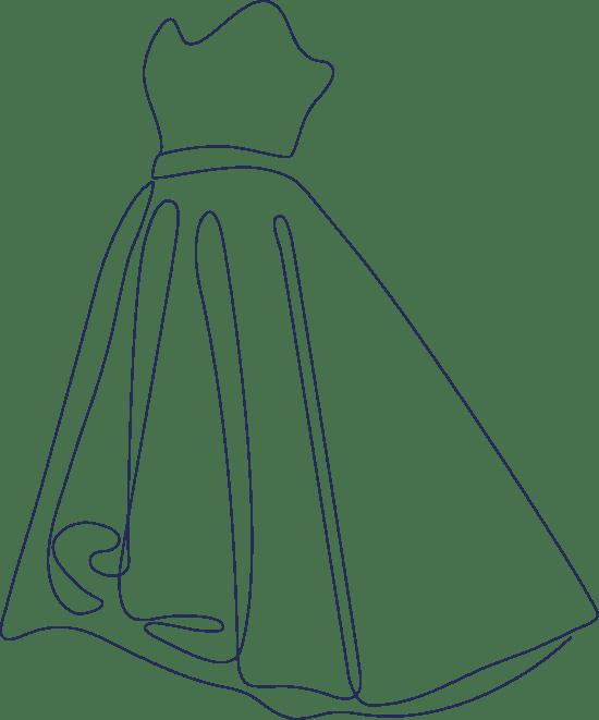 Monoline Gown