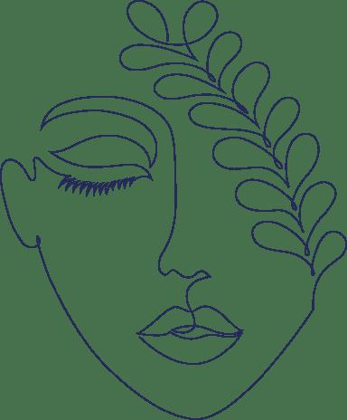 Monoline Leaf Face