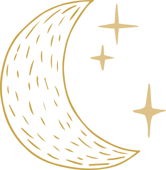 Dashed Moon & Stars