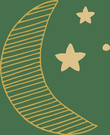 Striped Moon & Stars