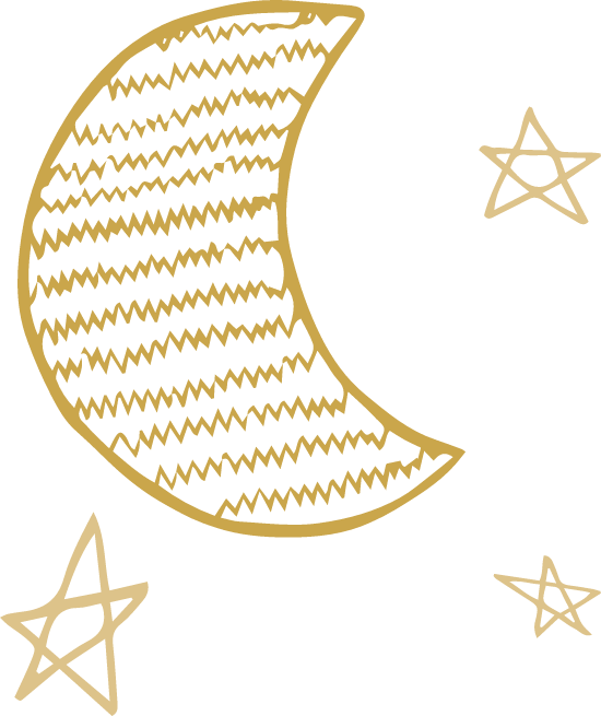 Zigzag Moon & Stars