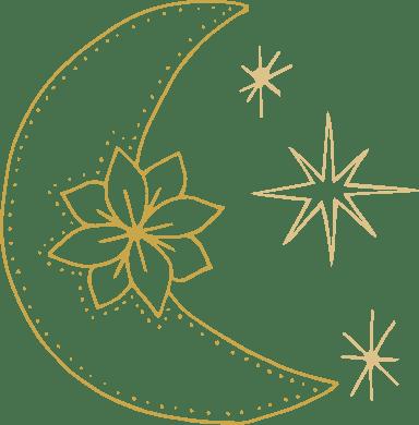 Flowery Moon & Stars