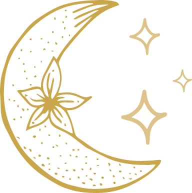 Floral Moon & Stars