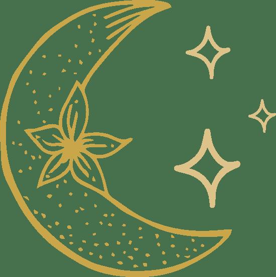 Floral Moon & Stars