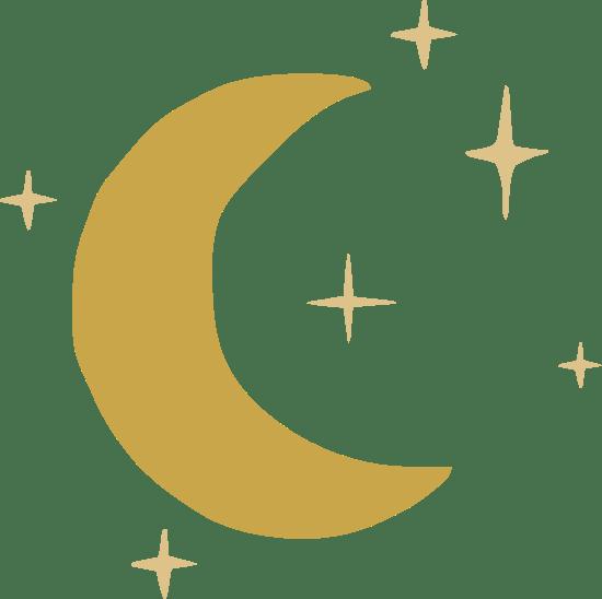 Crescent Moon & Stars