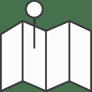 Folding Map & Pin