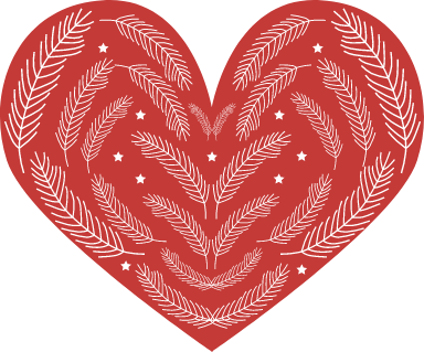 Nordic Stitched Heart