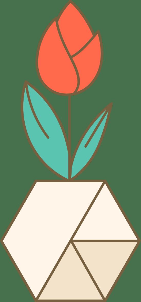 Potted Closed Tulip