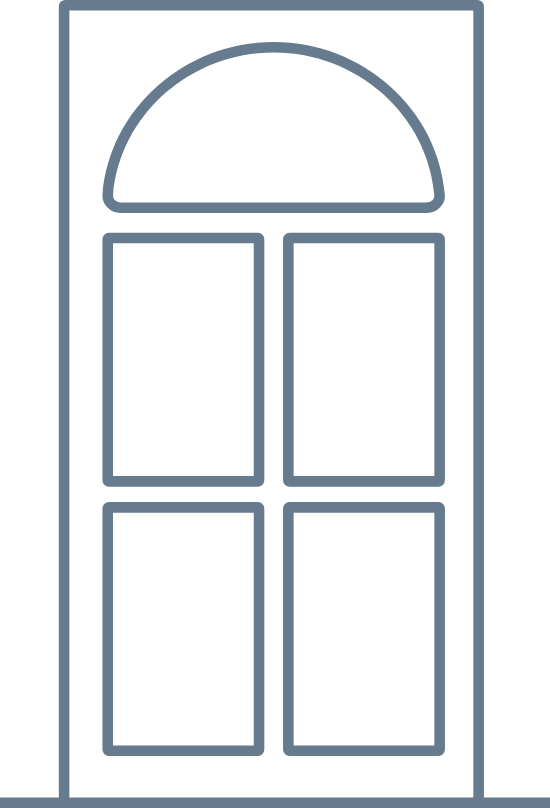 Rounded Front Door