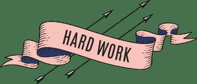 Hard Work Banner