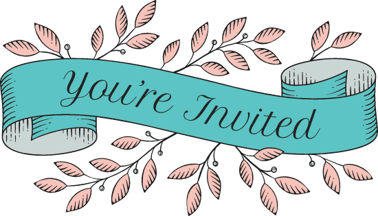 You're Invited Banner Graphic - Banner Vectors | Free Graphics & Vectors -  PicMonkey