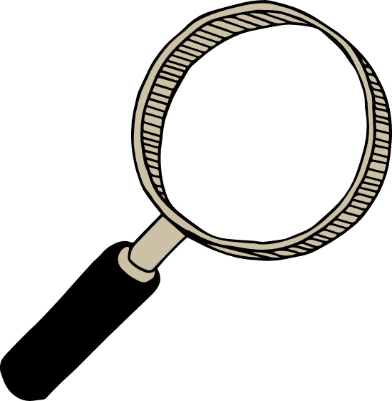Drawn Magnifying Glass